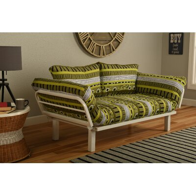 Ebern Designs EBND5041 Everett Convertible Lounger in Radiant Flux Futon and Mattress