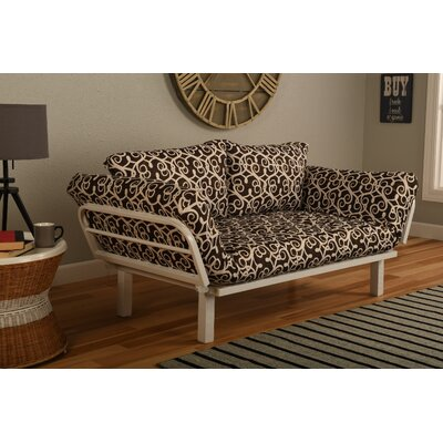 Everett Convertible Lounger in Sabine Futon and Mattress