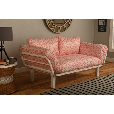 Ebern Designs EBND5045 Everett Convertible Lounger in Sweet Heart Futon and Mattress