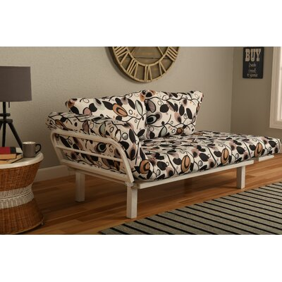 Ebern Designs EBND5046 Everett Convertible Lounger in Tanglewood Futon and Matress