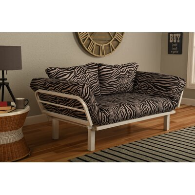 Maloof Convertible Lounger in Zebra Zen Futon and Mattress
