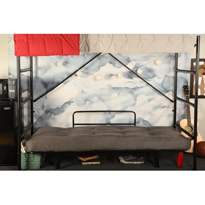 Covington Convertible Futon and Mattress Upholstery: Suede Gray, Finish: Black