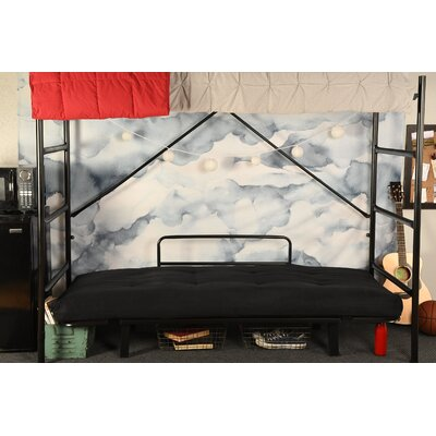 Covington Convertible Futon and Mattress Upholstery: Suede Black, Finish: Black