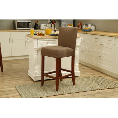 Waverly 29 Bar Stool Upholstery: Chunky Linen Rattan