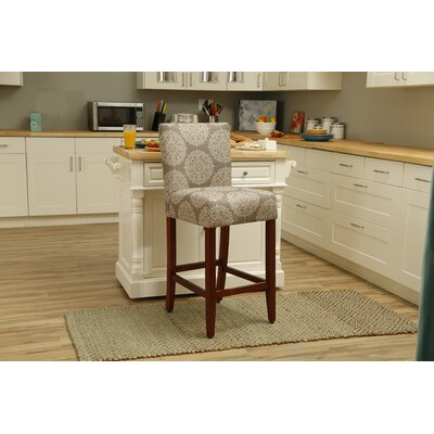Waverly 29 Bar Stool Upholstery: Stone Medallion