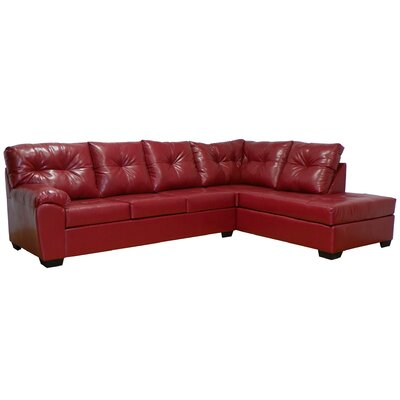 Camden Right Hand Facing Sectional Upholstery: San Marino Red