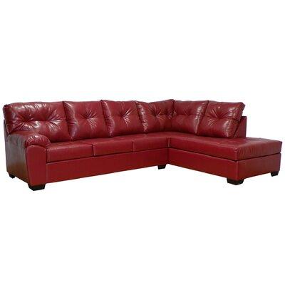 Camden Modular Sectional Upholstery: San Marino Red