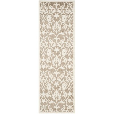 Barron Beige Indoor/Outdoor Area Rug Rug Size: Runner 23 x 9