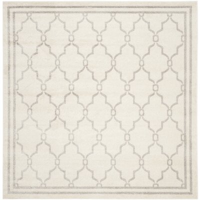 Peckham Gray Indoor/Outdoor Area Rug Rug Size: Square 7