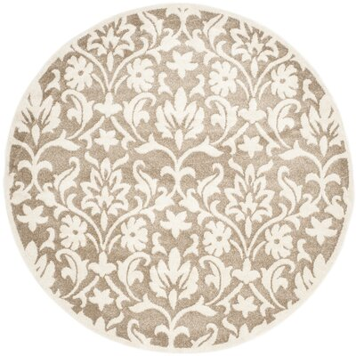 Barron Beige Indoor/Outdoor Area Rug Rug Size: Round 7
