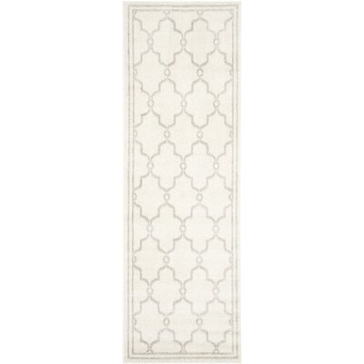 Peckham Ivory Indoor/Outdoor Area Rug Rug Size: Runner 23 x 15