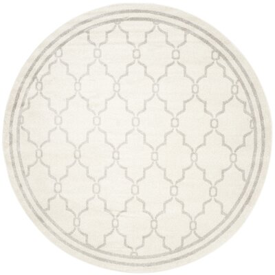 Peckham Gray Indoor/Outdoor Area Rug Rug Size: Round 7