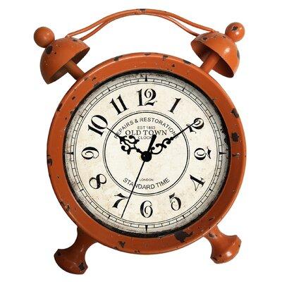 Dakota Table Clock Color: Distressed Orange