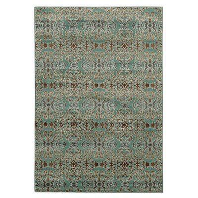 Puckett Damask Blue Area Rug Rug Size: Rectangle 8 x 10