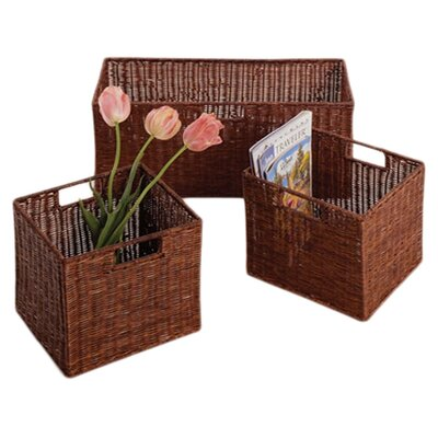Three Posts 3 Piece Storage Basket Set