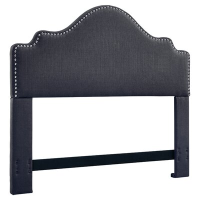 Clara Upholstered Panel Headboard Size: King/California King, Upholstery: Black