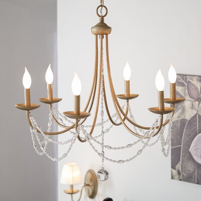 Atwood 6 Light Candle-Style Chandelier
