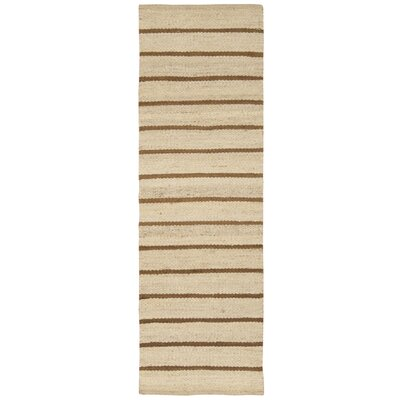 Laflin Hand-Woven Brown/Wheat Area Rug Rug Size: Rectangle 4 x 6