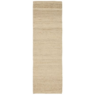 Laflin Hand-Woven Wheat Area Rug Rug Size: Runner 2'3