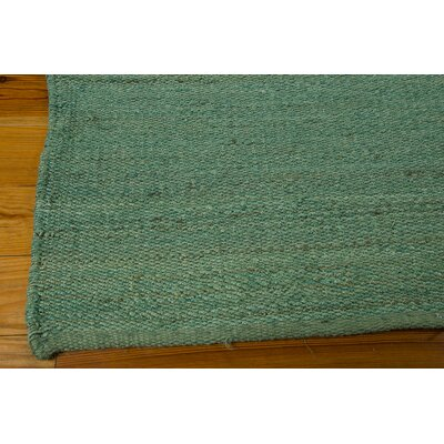 Laflin Hand-Woven Green Area Rug Rug Size: Rectangle 5 x 76