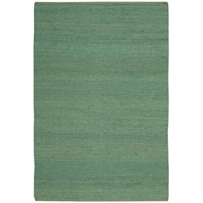 Laflin Hand-Woven Green Area Rug Rug Size: Rectangle 4 x 6