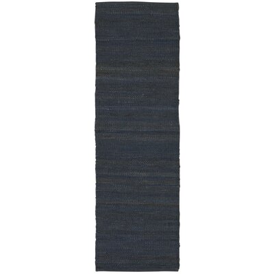 Laflin Hand-Woven Gray Area Rug Rug Size: Runner 23 x 76