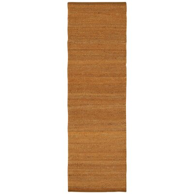 Laflin Hand-Woven Brown Area Rug Rug Size: Runner 23 x 76