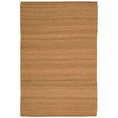 Laflin Hand-Woven Brown Area Rug Rug Size: Rectangle 8' x 10'