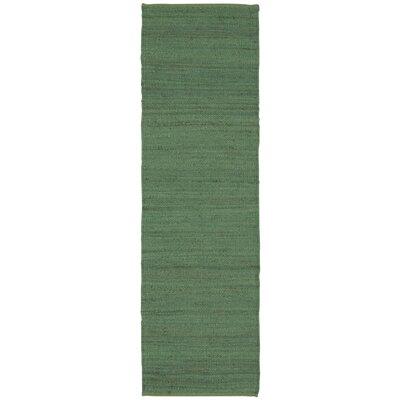 Laflin Hand-Woven Green Area Rug Rug Size: Runner 23 x 76