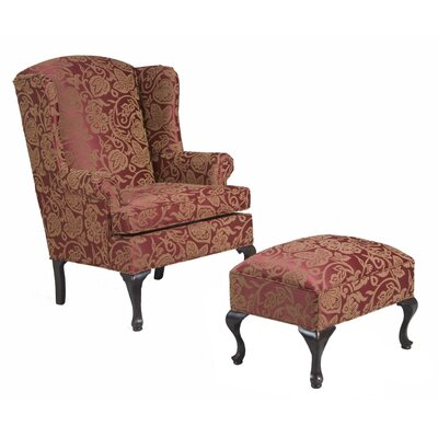 Palmdale Wing back Chair and Ottoman