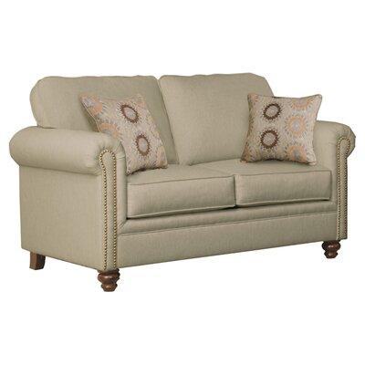 Serta Upholstery Caroll Loveseat Upholstery: Hanover Bamboo / Sunflower