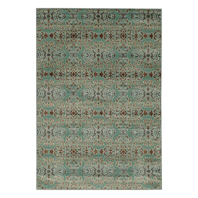 Puckett Damask Blue Area Rug Rug Size: Rectangle 5 x 7