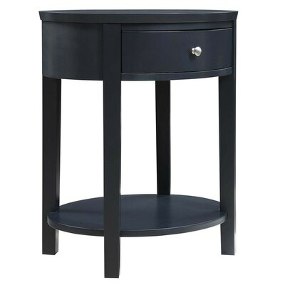 Canterbury End Table with Storage Color: Vulcan