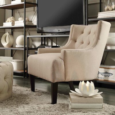 Barwood Tufted Accent Arm Chair by Three Posts