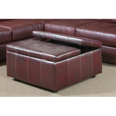 Serta Upholstery Williamsburg Storage Ottoman Color: Eastern Muscadine
