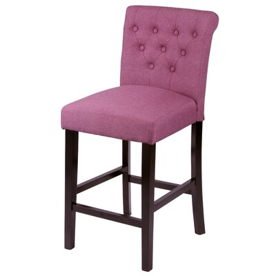 Mapletown 26 Bar Stool Upholstery: Orchid