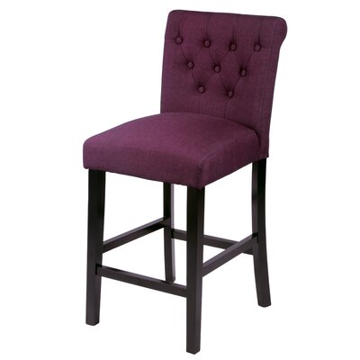 Mapletown 26 Bar Stool Upholstery: Wine
