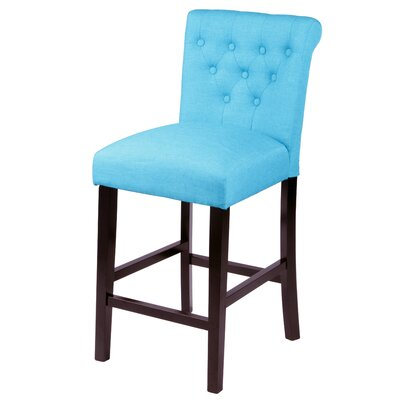 Mapletown 26 Bar Stool Upholstery: Frost Blue