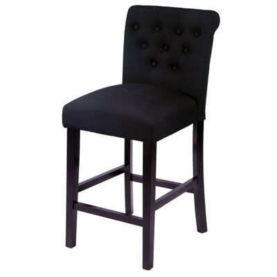 Mapletown 26 Bar Stool Upholstery: Black