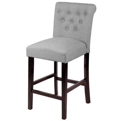 Mapletown 26 Bar Stool Upholstery: Grey