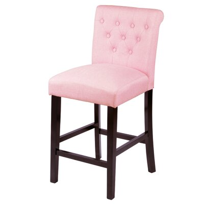 Mapletown 26 Bar Stool Upholstery: Coral Pink