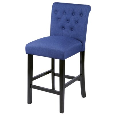 Mapletown 26 Bar Stool Upholstery: Deep Blue