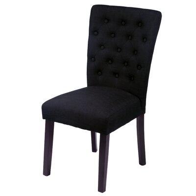 Mapletown Parsons Chair Upholstery: Black