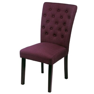 Mapletown Side Chair Upholstery: Wine