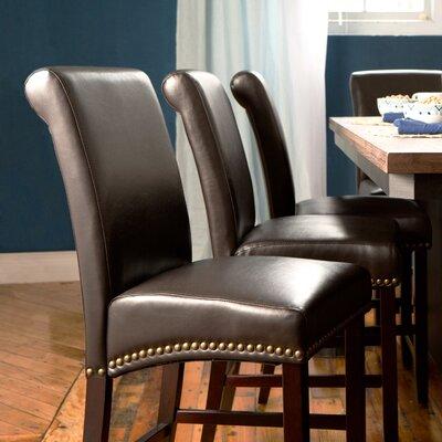 Mather 24 Bar Stool (Set of 2) Upholstery: Espresso
