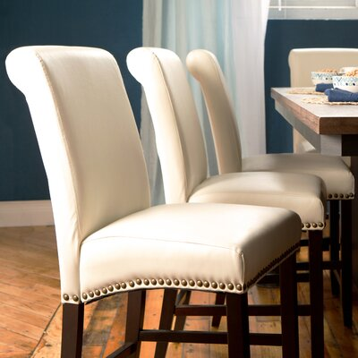 Mather 24 Bar Stool Upholstery: Cream