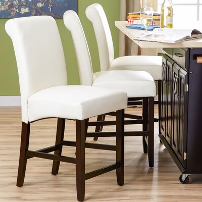 Mather 22 Bar Stool (Set of 2) Upholstery: White