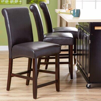 Mather 22 Bar Stool (Set of 2) Upholstery: Espresso