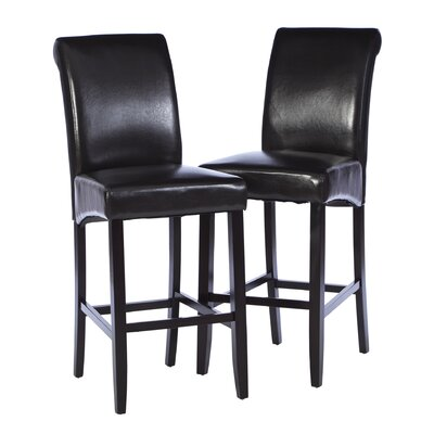 Mather 30 Bar Stool (Set of 2) Upholstery: Espresso