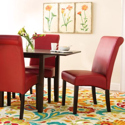 Ellison Side Chair (Set of 2) Upholstery: Red